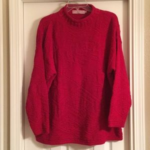 Vintage XL 100% cotton knit Sweater made in USA